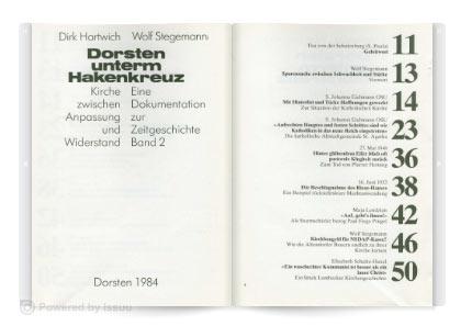 Dorsten unterm Hakenkreuz - Band 2