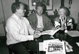 Vorstellung des Buches Juden in Dorsten mit W. Stegemann, Kulturamtsleiter W. Müller, Sr. Johanna OSU (v. l.)