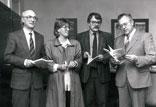 Vorstellung des Buches Vom Kaiserreich zum Hakenkreuz; Stadtdirektor Dr. Zahn, A. Klapsing, W. Stegemann, BM H. Ritter