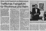 Balladenabend des Goethe-Stammtisches
