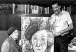 Besuch des spanischen Zeichners Juliá Mateu 1993