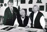 Mit mir und Sr. J. Eichmann im Atelier